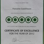 Tripadvisor Award of Excellence 2012